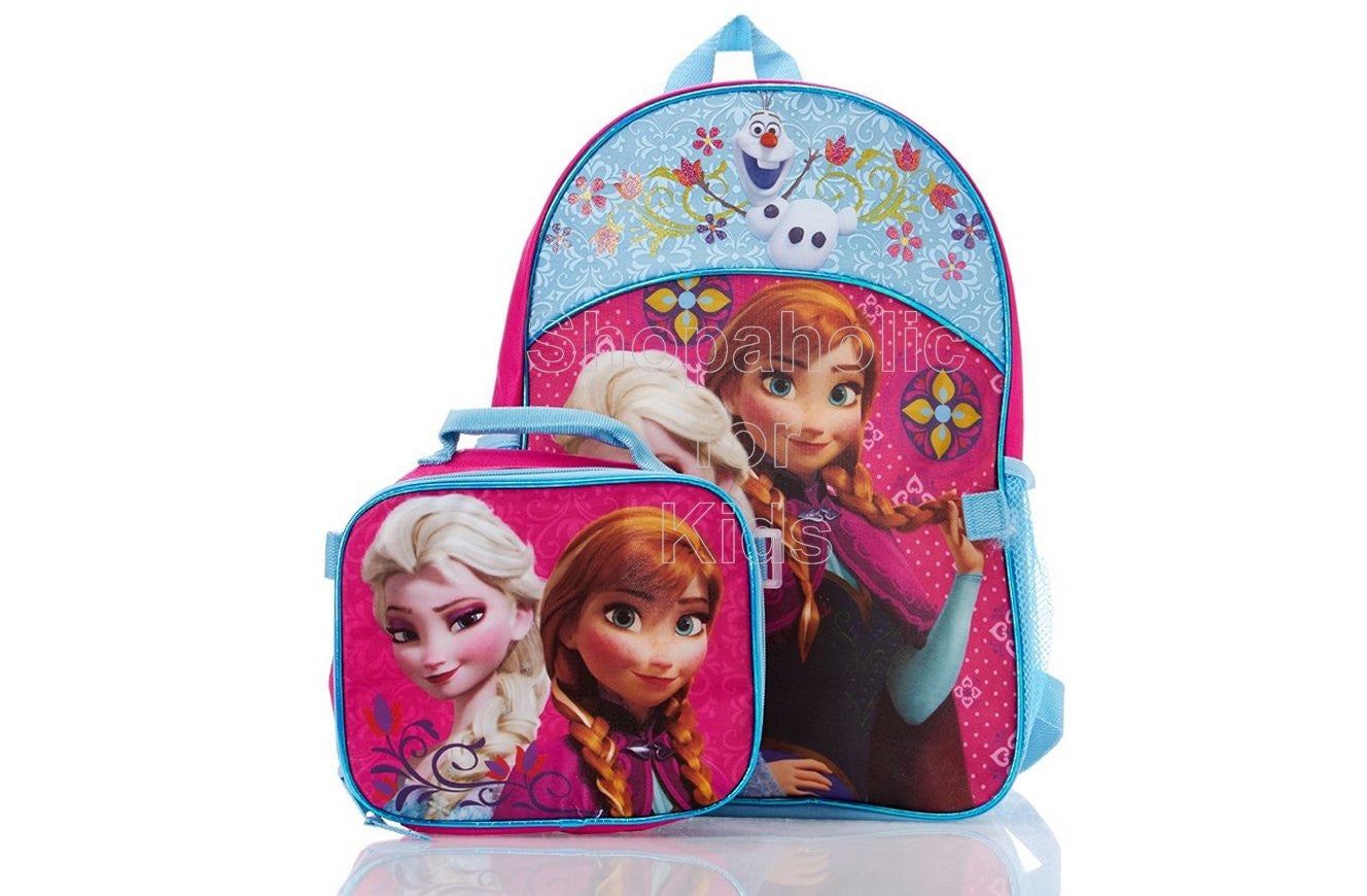 Disney Frozen Backpack with Lunch Bag - Blue/Pink