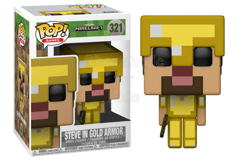 Funko POP! Games: Minecraft - Steve With Gold Axe