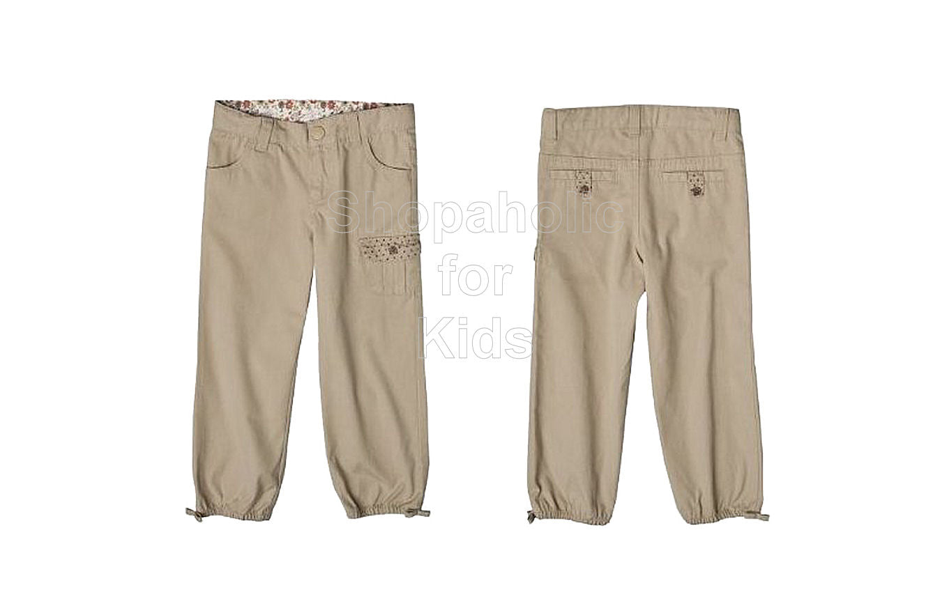 Genuine Kids from OshKosh Infant Girls' Canvas Pants - Khaki - Shopaholic for Kids