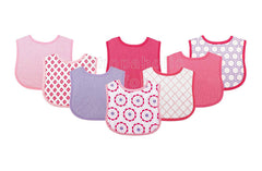 Luvable Friends Pink/Purple Drool Bibs, Pack of 8 - Shopaholic for Kids
