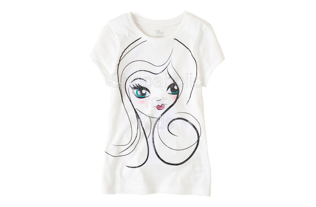 Children's Place Girl Face Graphic Tee - Shopaholic for Kids