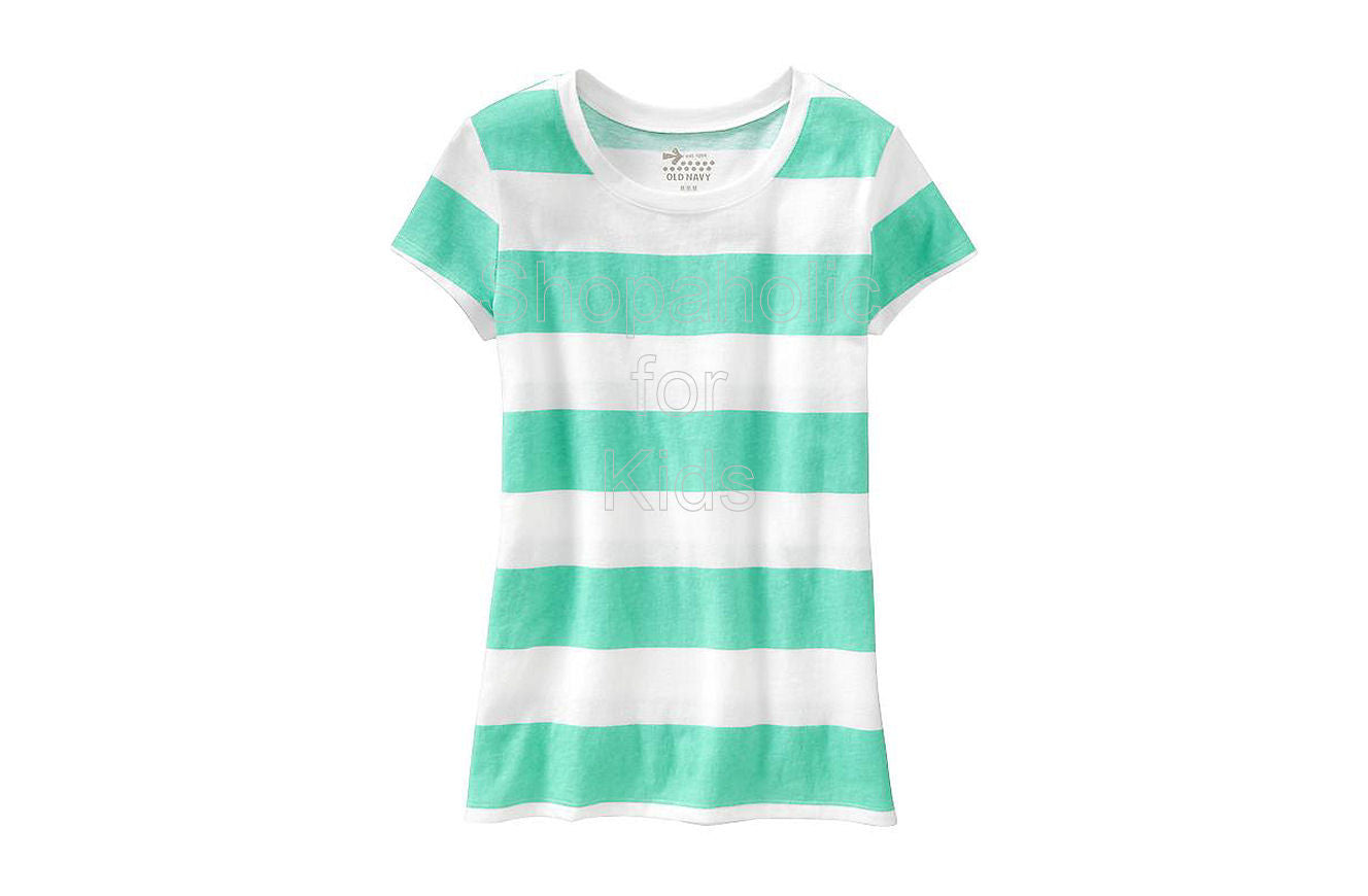Old Navy Girls Cap-Sleeve Printed Tees - Reef