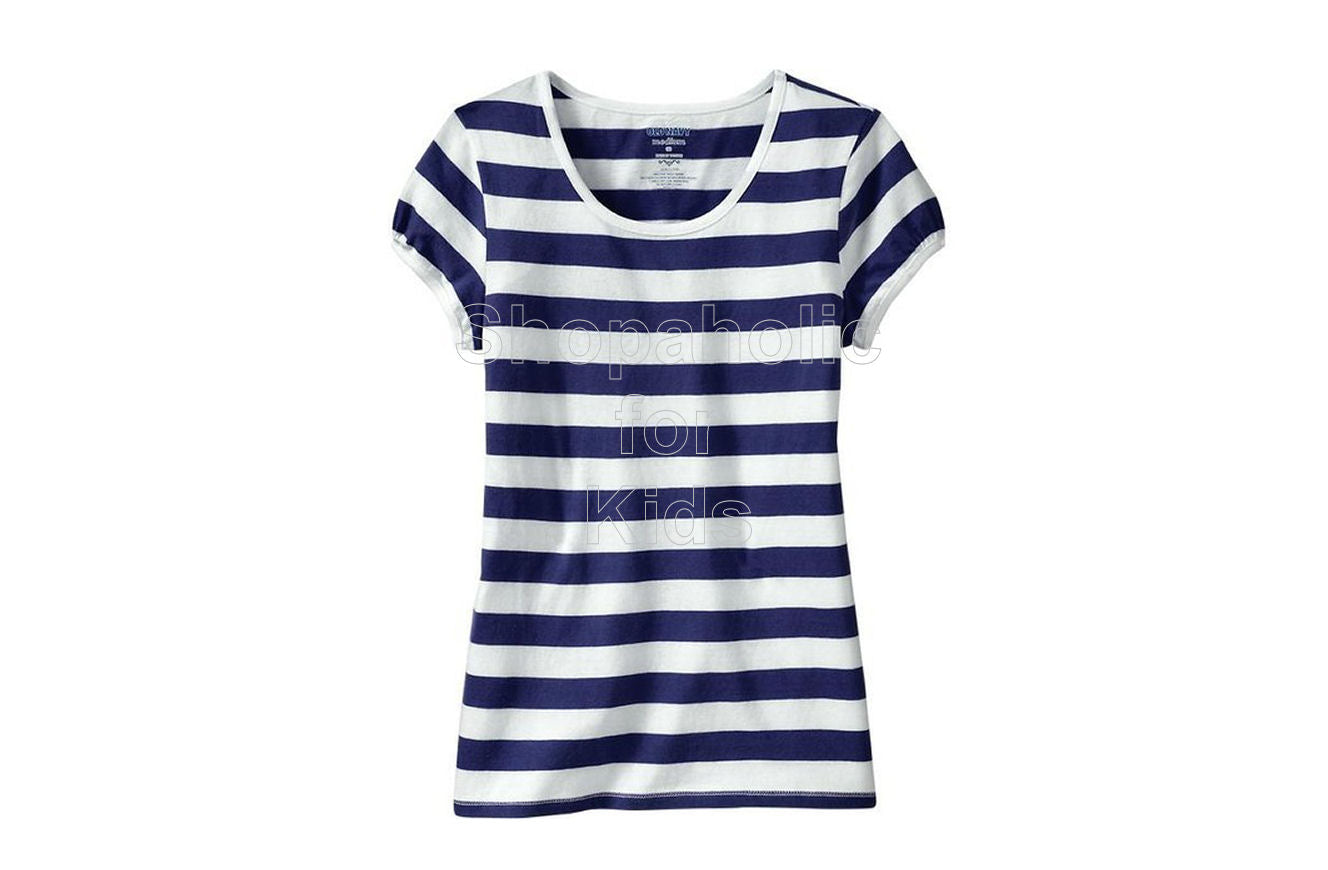 Old Navy Striped Crew-Neck Tees - Navy Stripe - Shopaholic for Kids