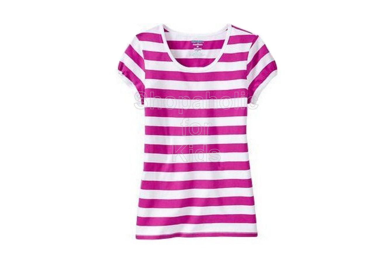 Old Navy Striped Crew-Neck Tees - Pink Stripe - Shopaholic for Kids