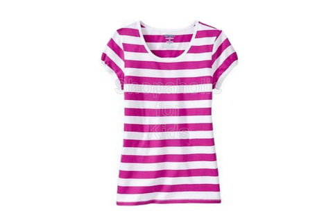 Old Navy Striped Crew-Neck Tees - Pink Stripe