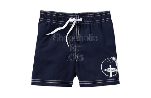 Old Navy Graphic Swim Trunks - Ink Blue
