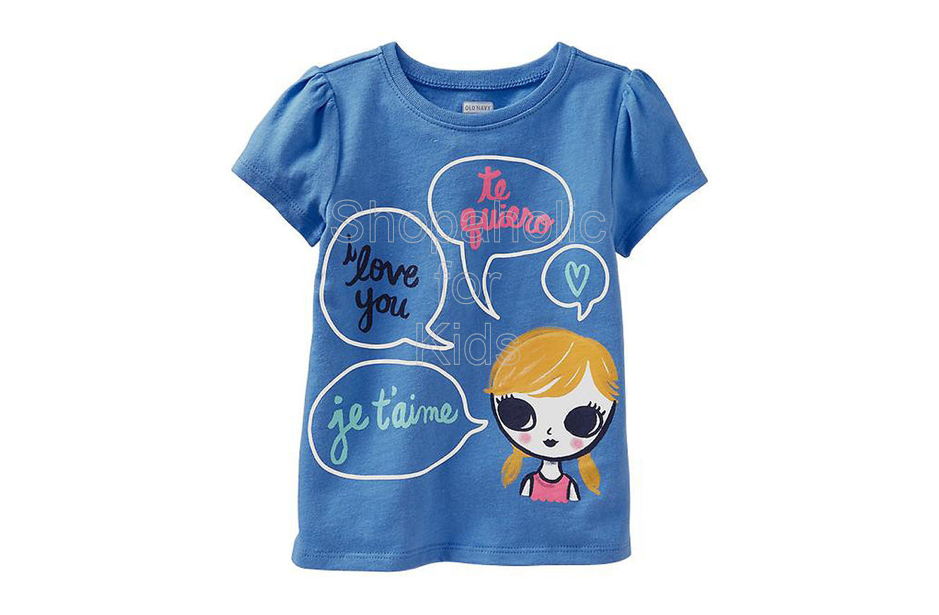 Old Navy  Graphic Tees for Baby I Love You - Shopaholic for Kids
