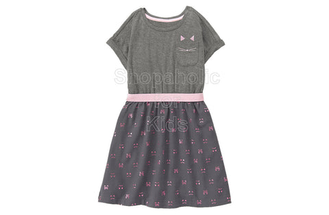 Gymboree Cat Twofer Grey Dress