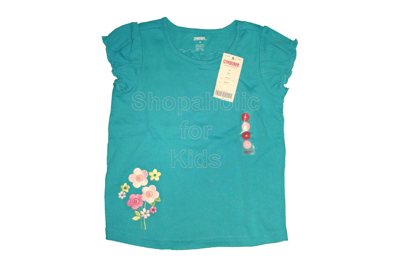 Gymboree Flower Garden Blue Ruffle Top - Shopaholic for Kids
