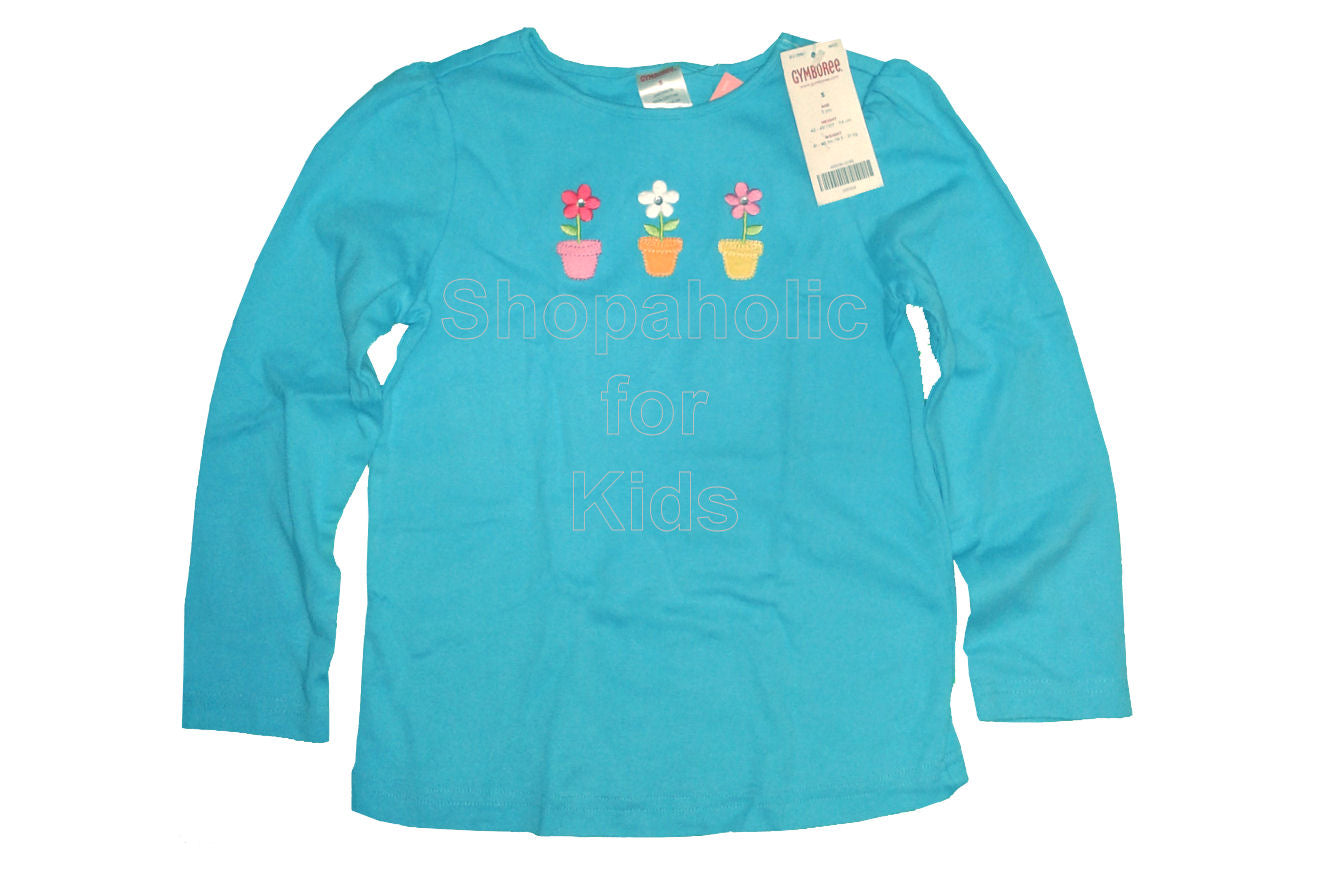 Gymboree Spring Rainbow Blue Three Flower Top - Shopaholic for Kids
