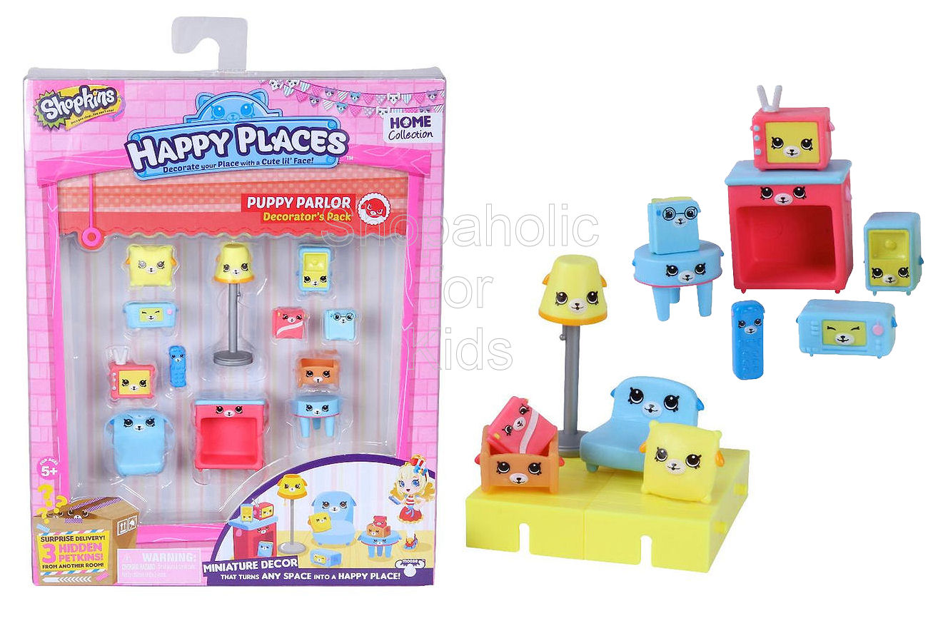 Shopkins Happy Places Decorator Pack - Puppy Parlour - Shopaholic for Kids