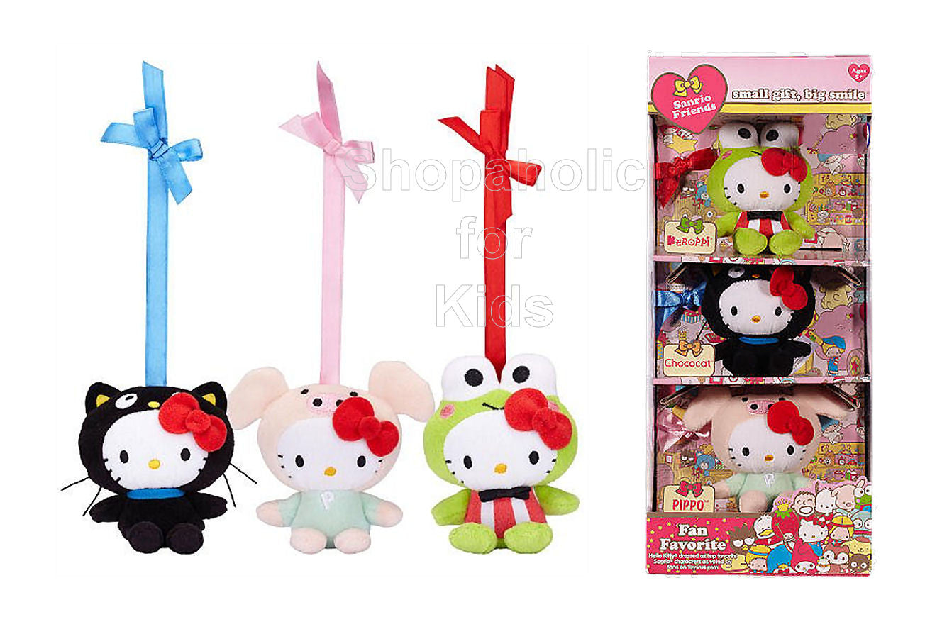 Hello Kitty Fan Favorite 50th Anniversary Plush 3-Pack - Shopaholic for Kids
