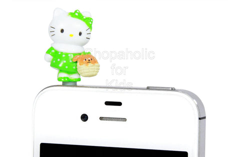 Hello Kitty Phone Jack - Mascot Green
