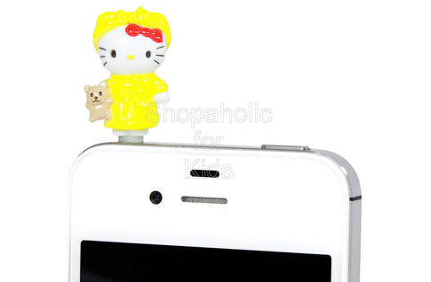 Hello Kitty Phone Jack - Mascot Yellow