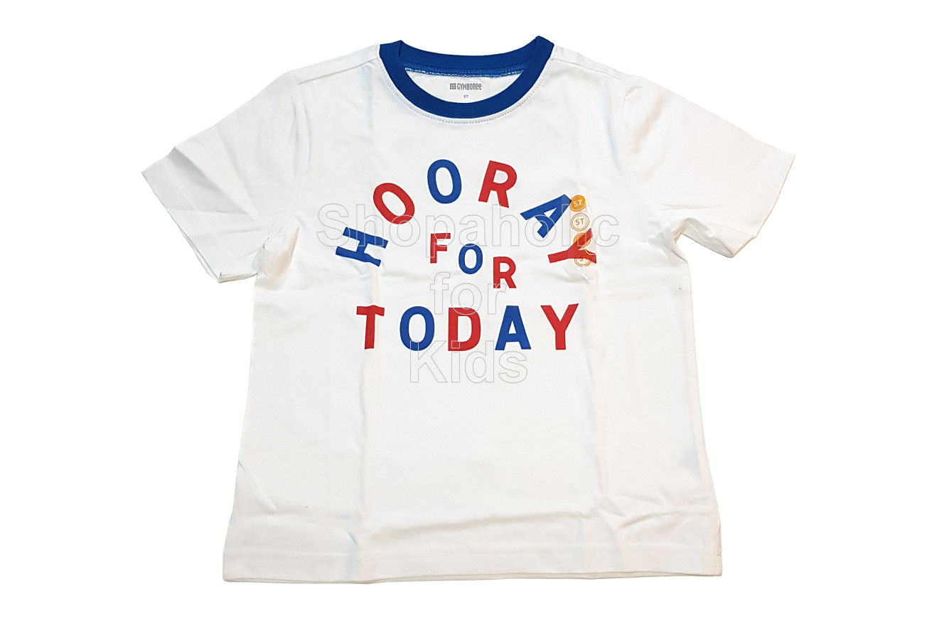 Gymboree Hooray for Today White Tee for Boys