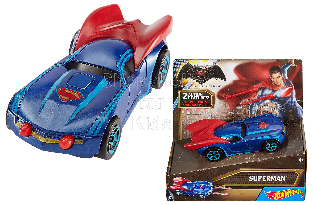 Hot Wheels Batman vs Superman - Superman Pull Back Vehicle