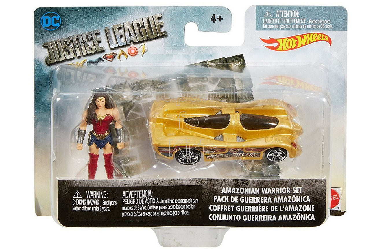 Hot Wheels DC Comics Justice League Amazonian Wonder Woman Mighty Mini Warrior Set - Shopaholic for Kids