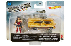 Hot Wheels DC Comics Justice League Amazonian Wonder Woman Mighty Mini Warrior Set