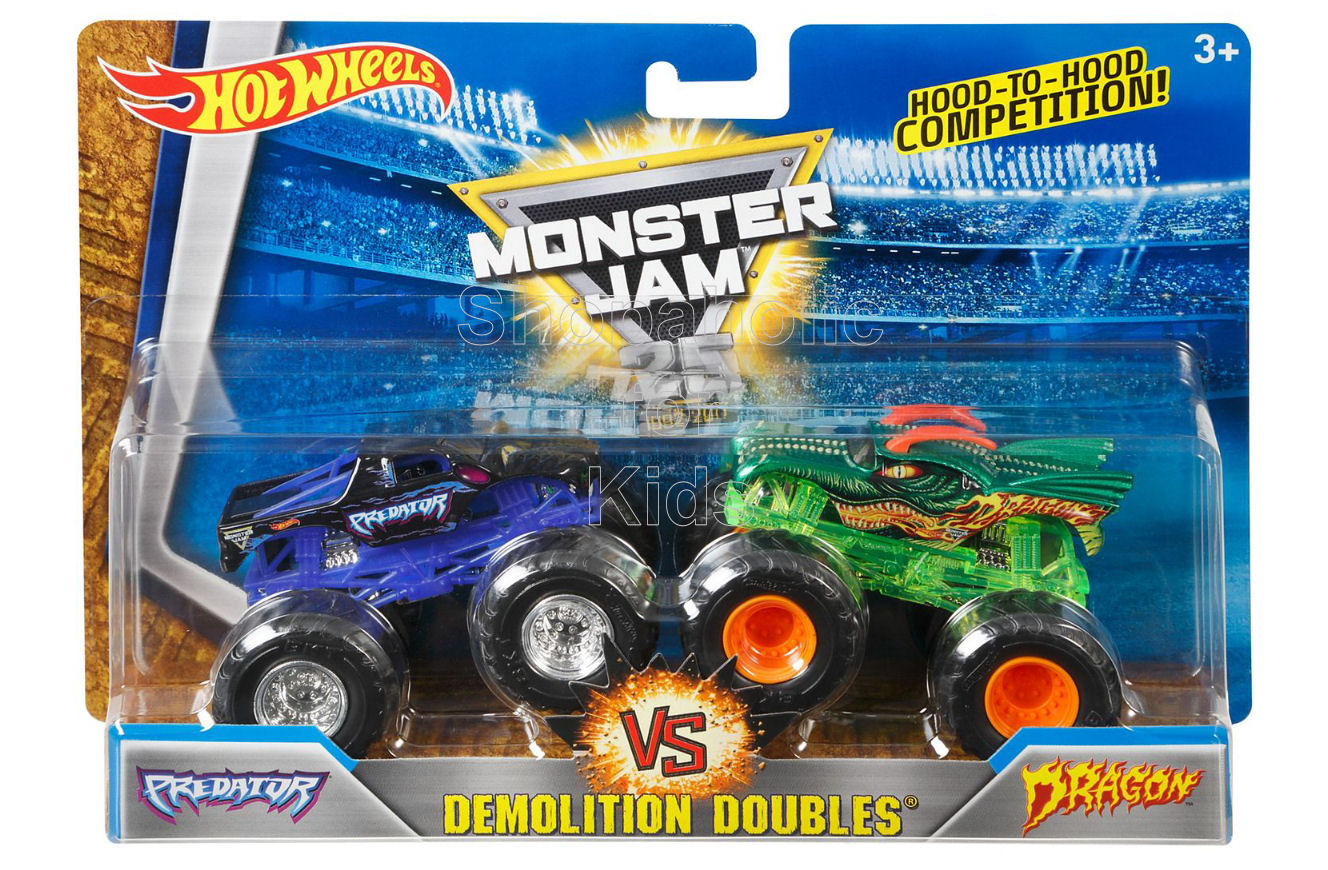 Hot Wheels Monster Jam Demolition Doubles Predator vs Dragon