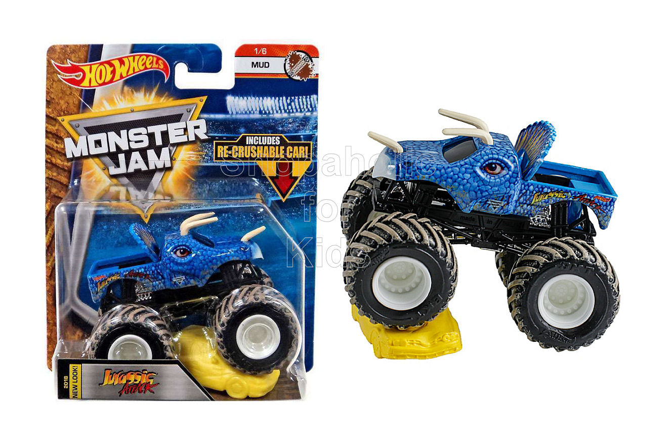 Hot Wheels Monster Jam Jurassic Attack with Re-Crushable Car