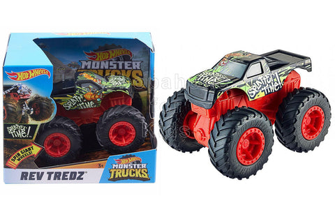 Hot Wheels Monster Trucks Rev Tredz Toy Cars - Splatter Time