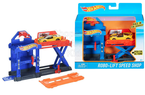 Hot Wheels Robo-Lift Speed Shop Playset