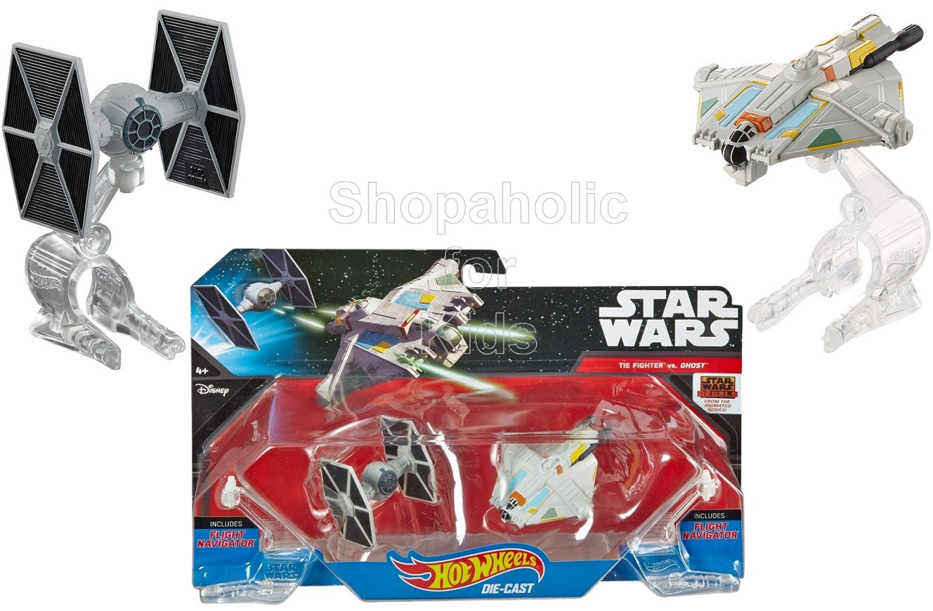 Hot Wheels Star Wars Starship Rebels Ghost vs. TIE Fighter 2-Pack - Shopaholic for Kids