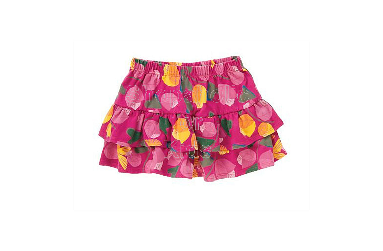 Crazy8 Hummingbird Floral Tiered Knit Skirt - Shopaholic for Kids