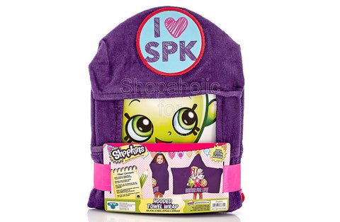 I Love Shopkins Hooded Towel Wrap