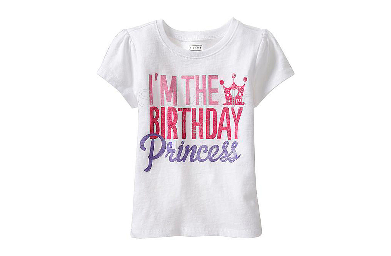 Old Navy I'm the Birthday Princess Tees - Shopaholic for Kids