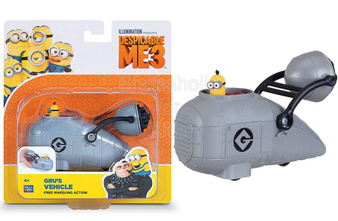 Despicable Me 3 - Gru's Vehicle Free Wheeling Action with Minion Tim