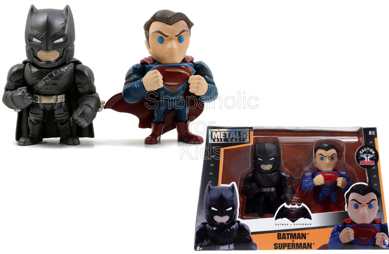 DC Comics Metals Diecast Batman vs Superman 4 inch Figure - 2 Pack - Shopaholic for Kids
