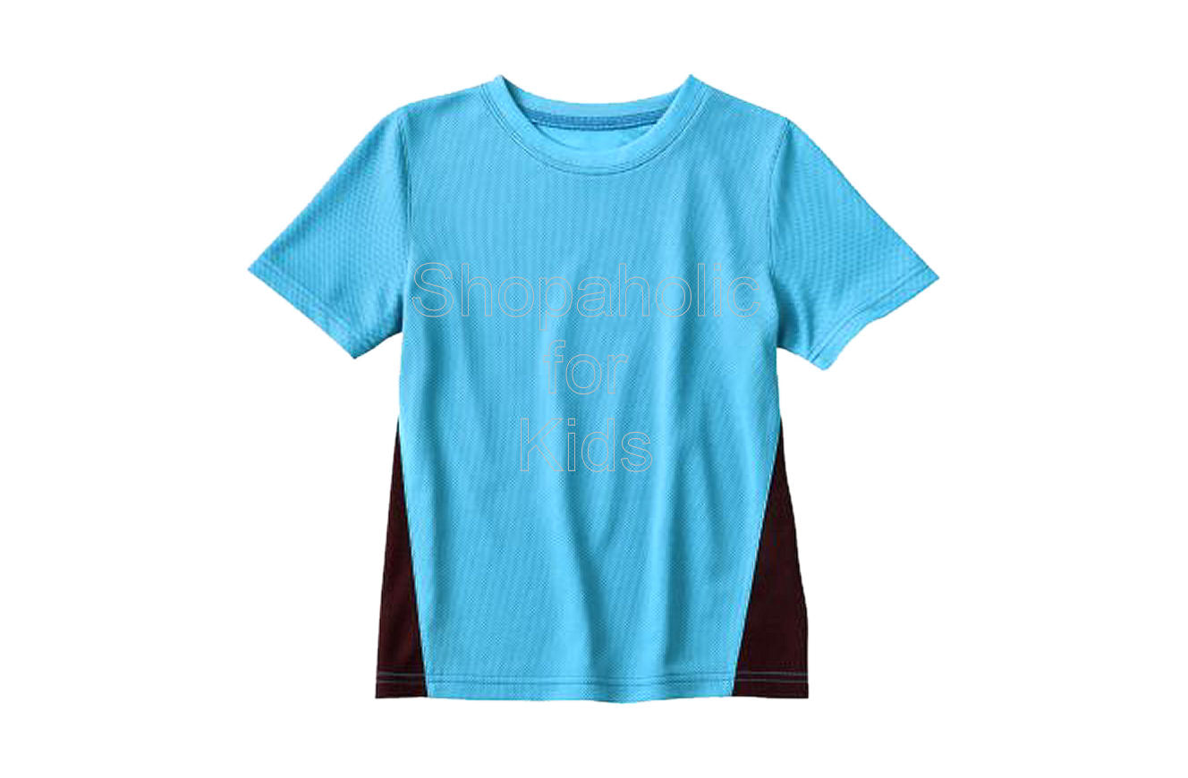 Jumping Beans Colorblock Performance Top - Tahiti Blue - Shopaholic for Kids