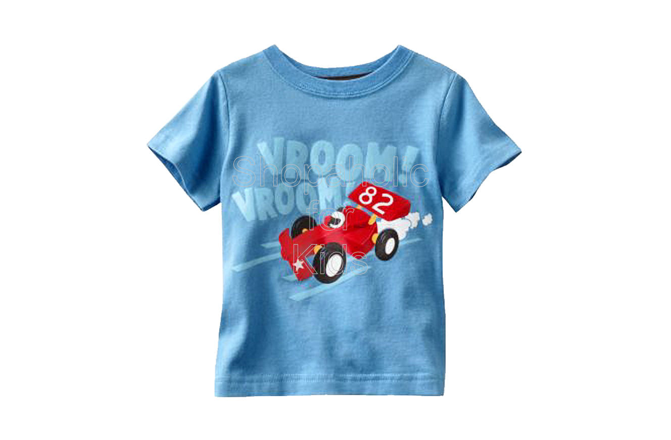 Jumping Beans Graphic Tee Blue Vroom Vroom