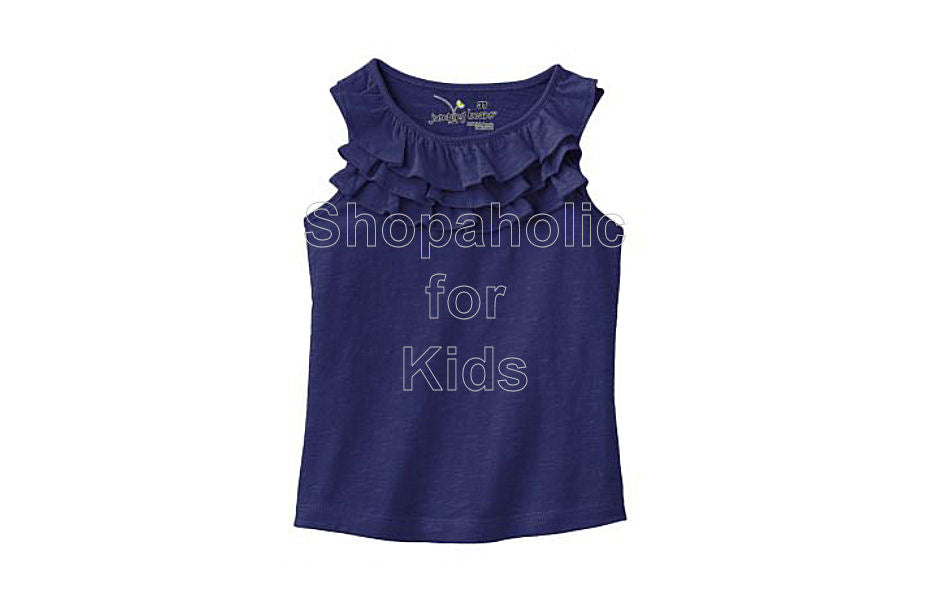 Jumping Beans Slubbed Ruffle Tank - Freedom Blue - Shopaholic for Kids
