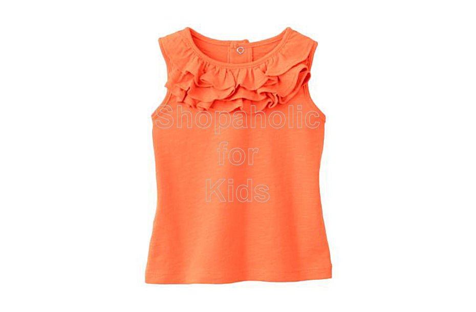 Jumping Beans Slubbed Ruffle Tank - Melon - Shopaholic for Kids