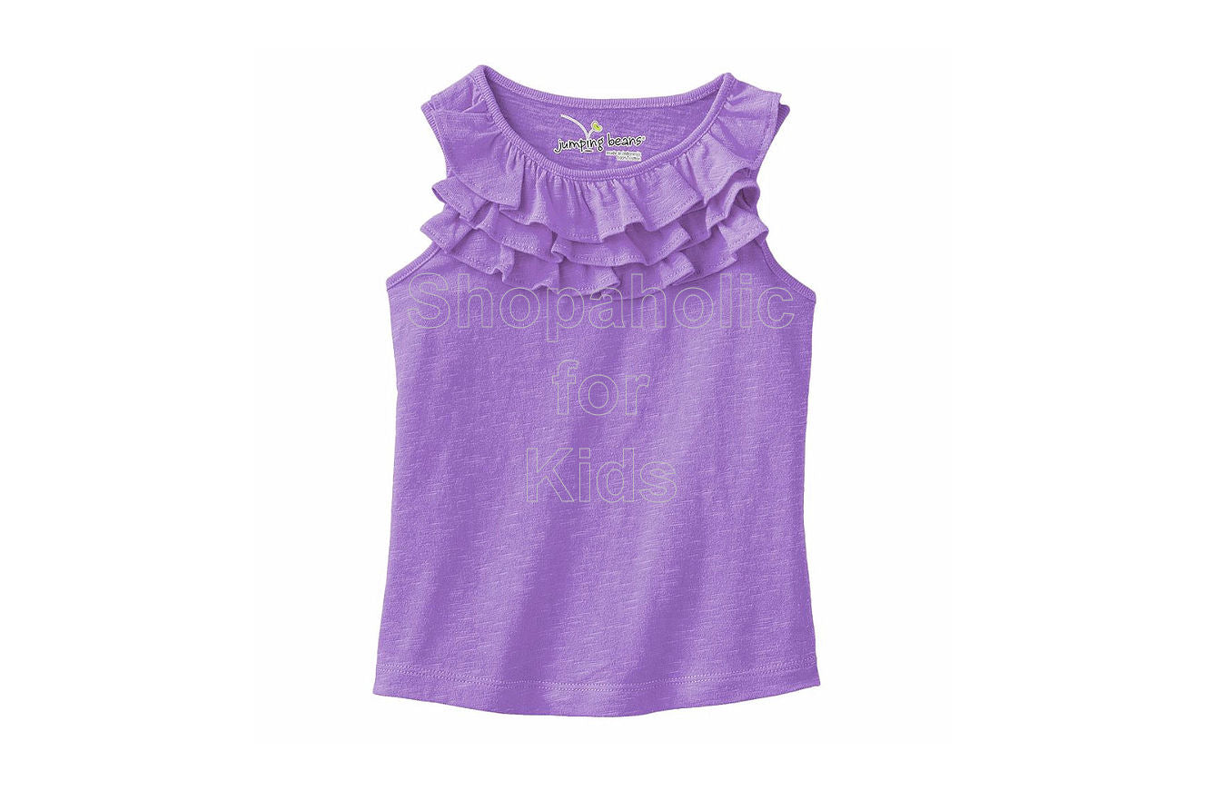 Jumping Beans Slubbed Ruffle Tank - Wisteria Bloom