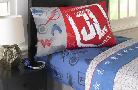DC Comics Superhero Justice League Microfiber Twin Sheet Set