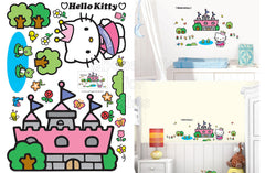Hello Kitty Castle Wall Sticker - Shopaholic for Kids
