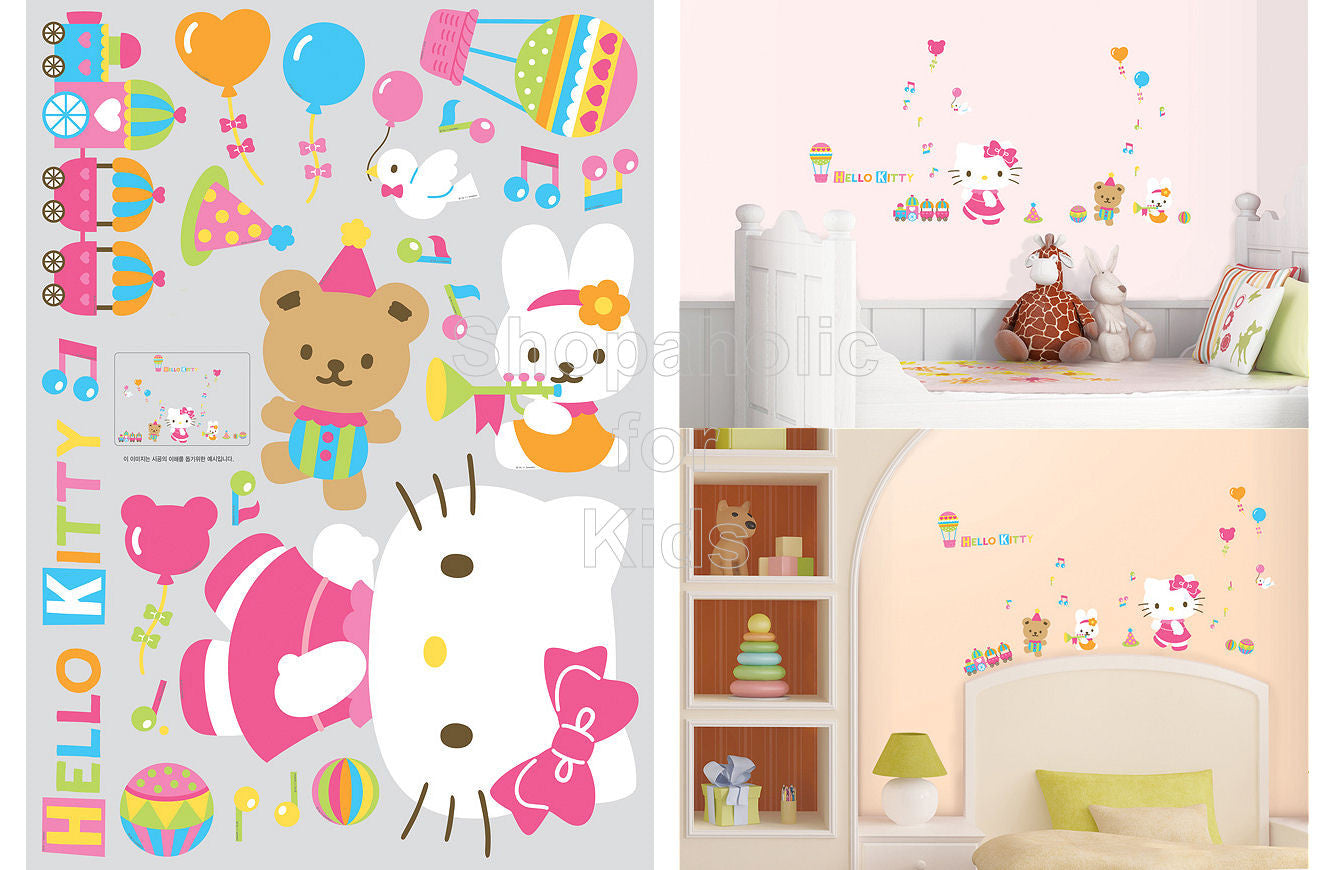 Hello Kitty Parade Wall Sticker - Shopaholic for Kids
