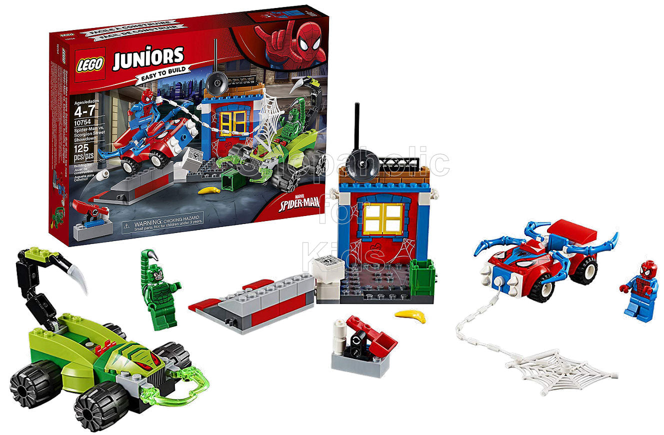 Lego Juniors Spider-Man vs. Scorpion Street Showdown - Shopaholic for Kids