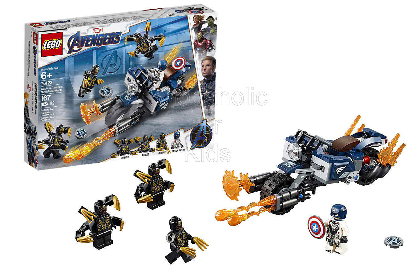 Lego Marvel Avengers Captain America: Outriders Attack Building Kit - Shopaholic for Kids
