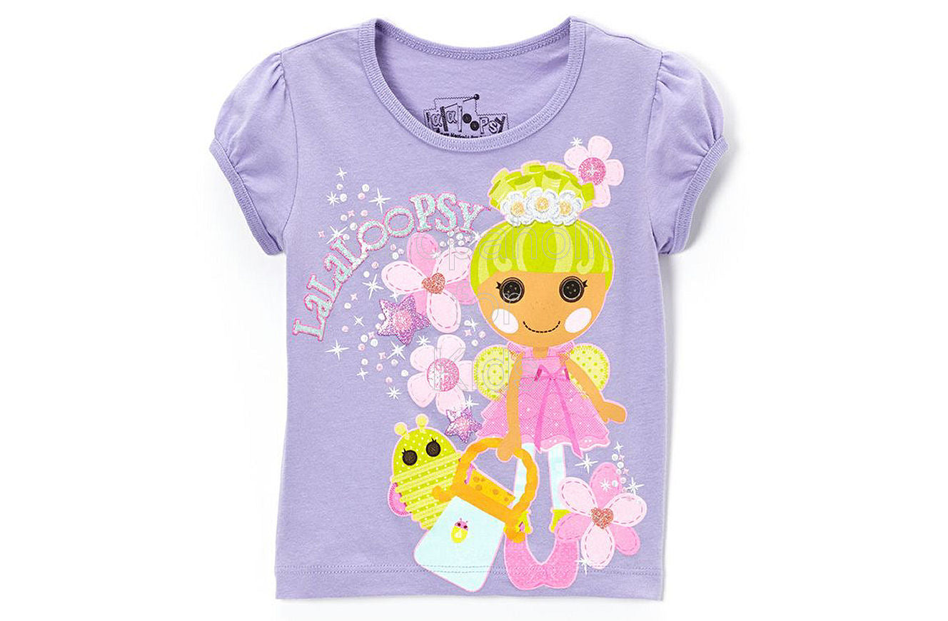 Lalaloopsy Tee Spring Lilac - Shopaholic for Kids