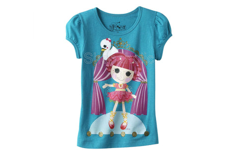 Lalaloopsy Girl's T-Shirt - Tippy Tumbelina Blue