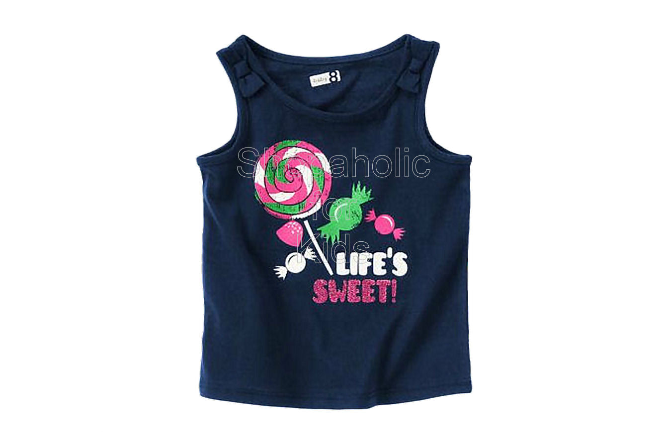 Crazy8 Life's Sweet Candy Tank Color: Summer Navy - Shopaholic for Kids