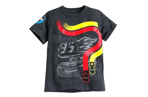 Disney Lightning McQueen Tee for Boys - Cars 3 - Gray