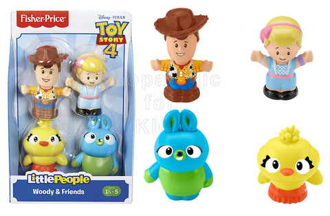 Fisher-Price Little People Disney Pixar Toy Story - Woody, Bo Peep, Ducky, and Bunny