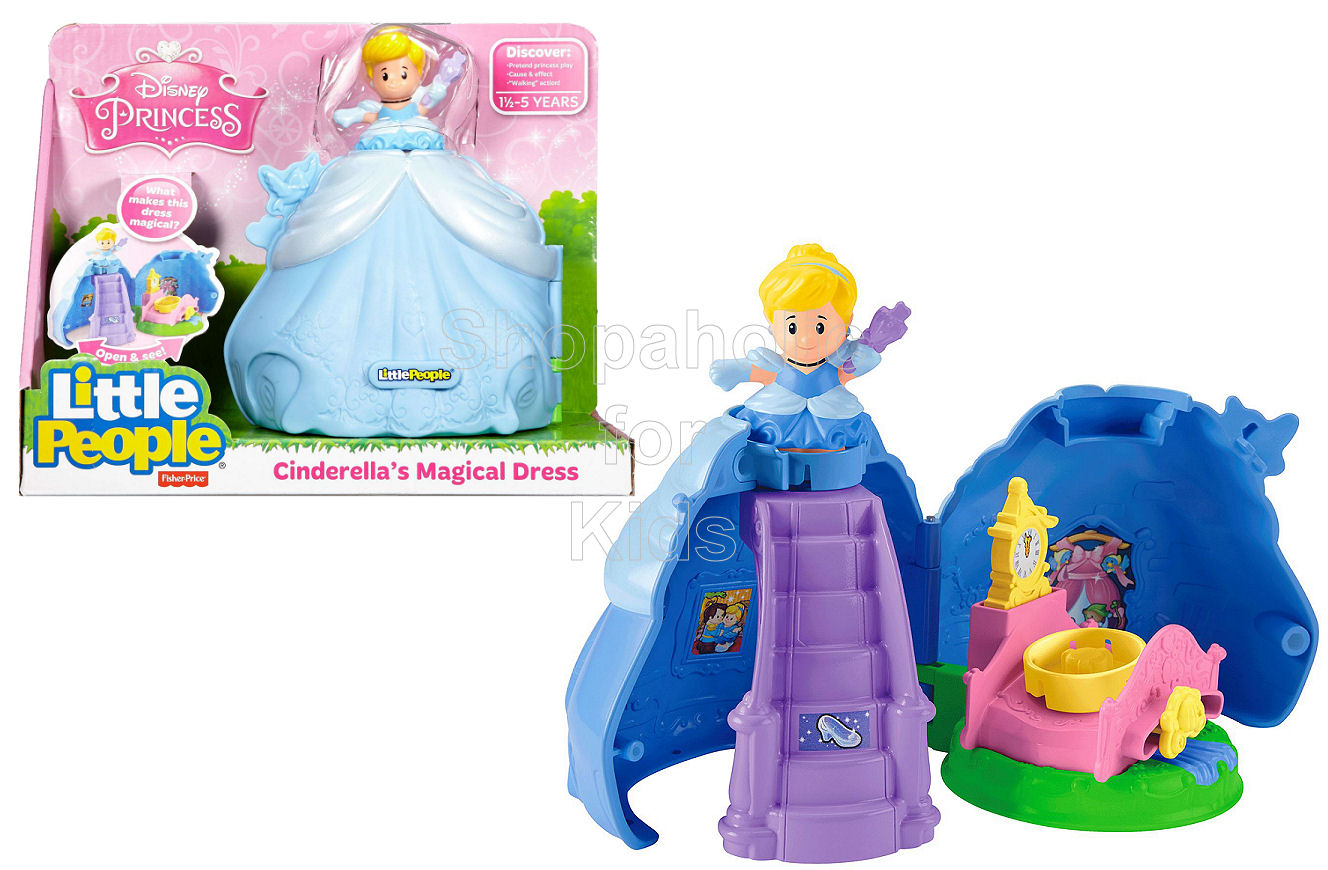 Fisher-Price Little People Disney Princess Cinderella's Magical Dress