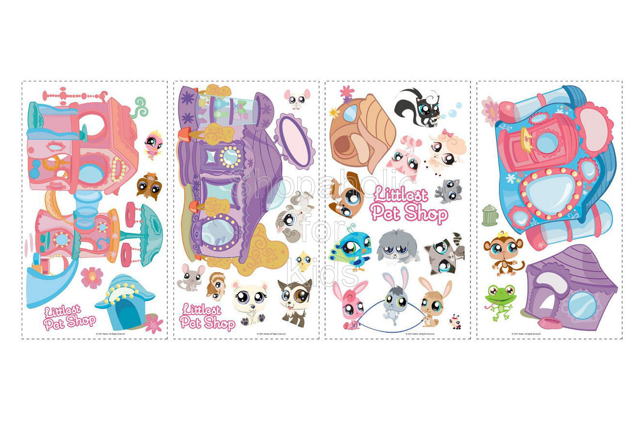 Littlest Pet Shop Peel & Stick Wall Decals / Wall Sticker