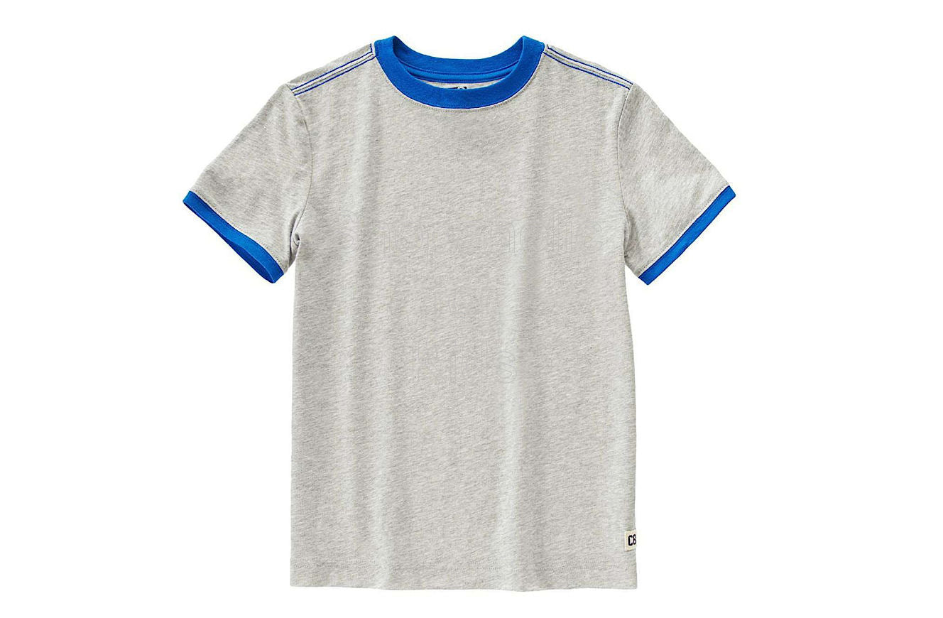 Crazy8 Logo Ringer Tee Heather Grey - Shopaholic for Kids